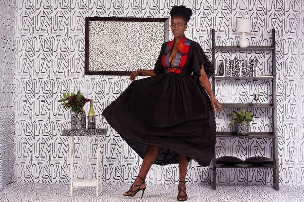 Asante Black Dress - URBAN ZULU