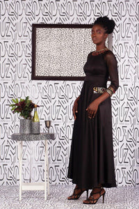 Kwetu Black Dress - URBAN ZULU