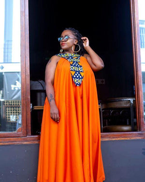 URBAN ZULU: Orange Vanessa Dress - URBAN ZULU