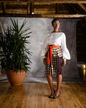 Thembi Peplum Skirt - URBAN ZULU