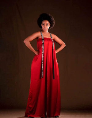 Urban Zulu : Malaika  Red Jumpsuit
