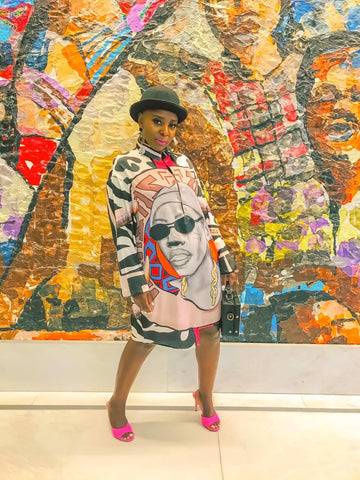 Busi Mhlongo Shirt Dress - URBAN ZULU