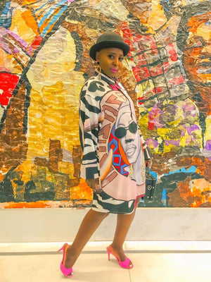 Busi Mhlongo Shirt Dress