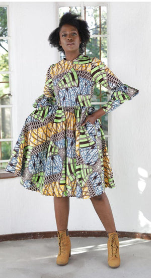 Sihle Print Doll Dress - URBAN ZULU