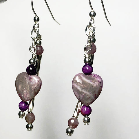 Uplifting Love Crazy Heart Earrings