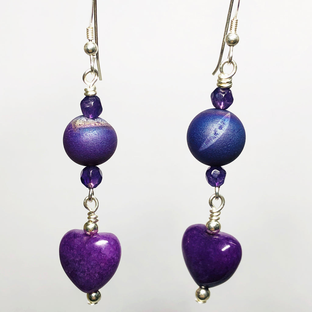 Glowing Heart Earrings