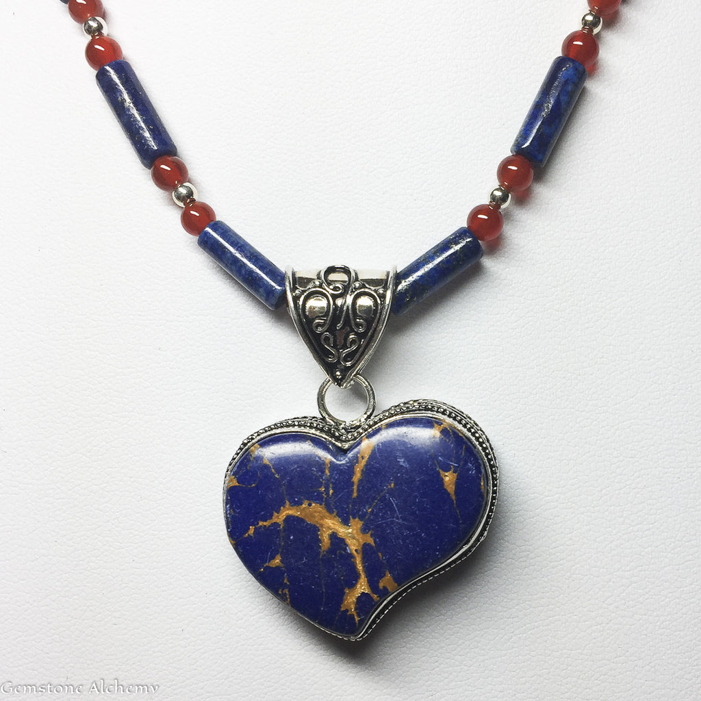Manifest Vision Heart Pendant and Optional beaded chain