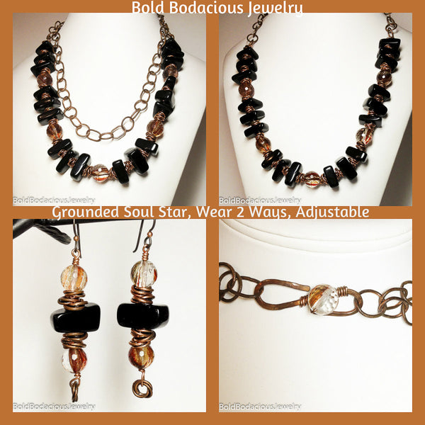Grounded Soul Star Necklace Set