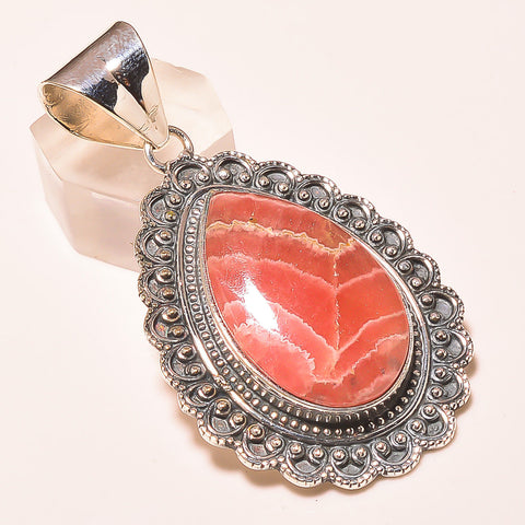 Rhodocrosite Vintage Style Pendant - Feel love and compassion for self