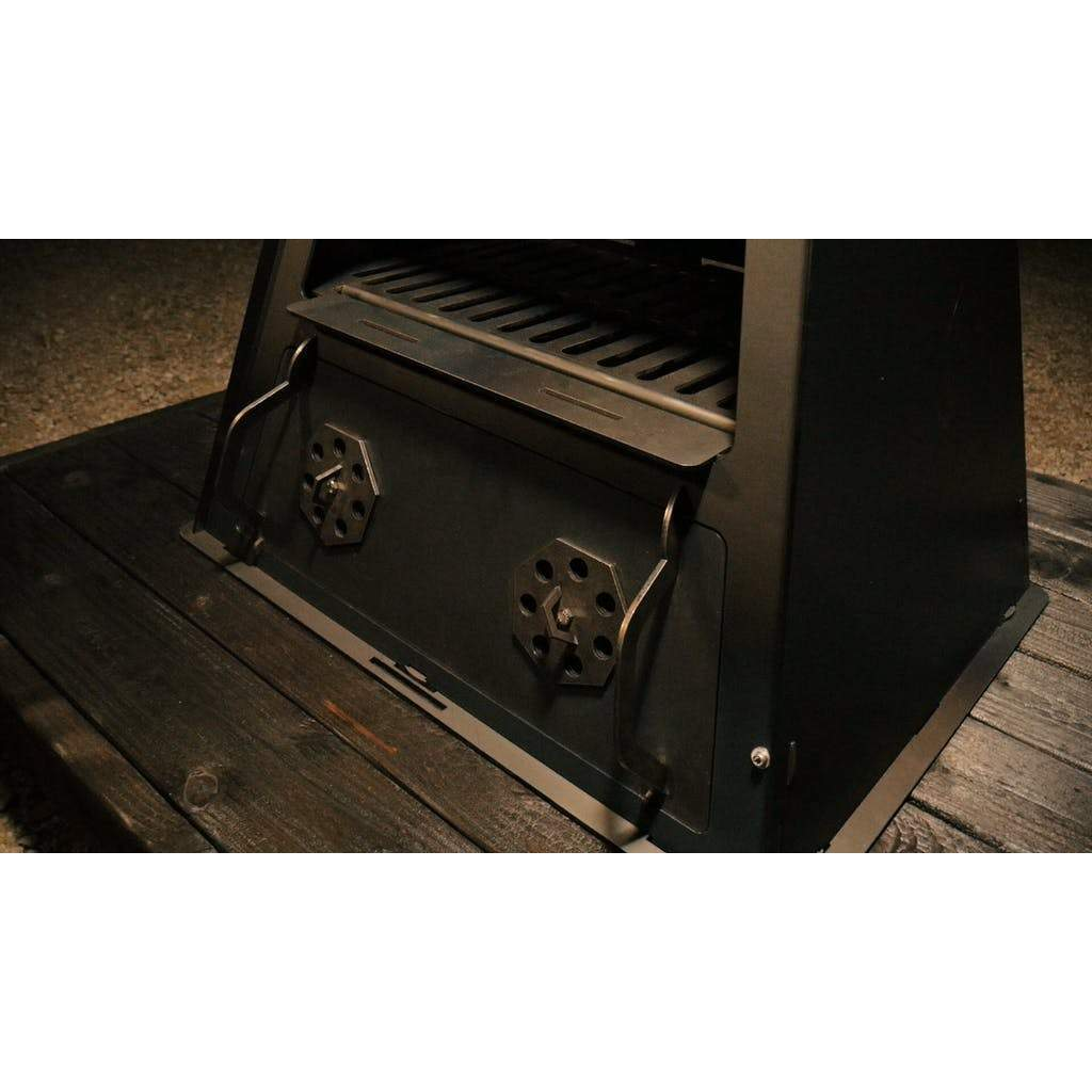 Bottom Door with Adjustable Vents - Blaze Tower Fire Pit and Grill