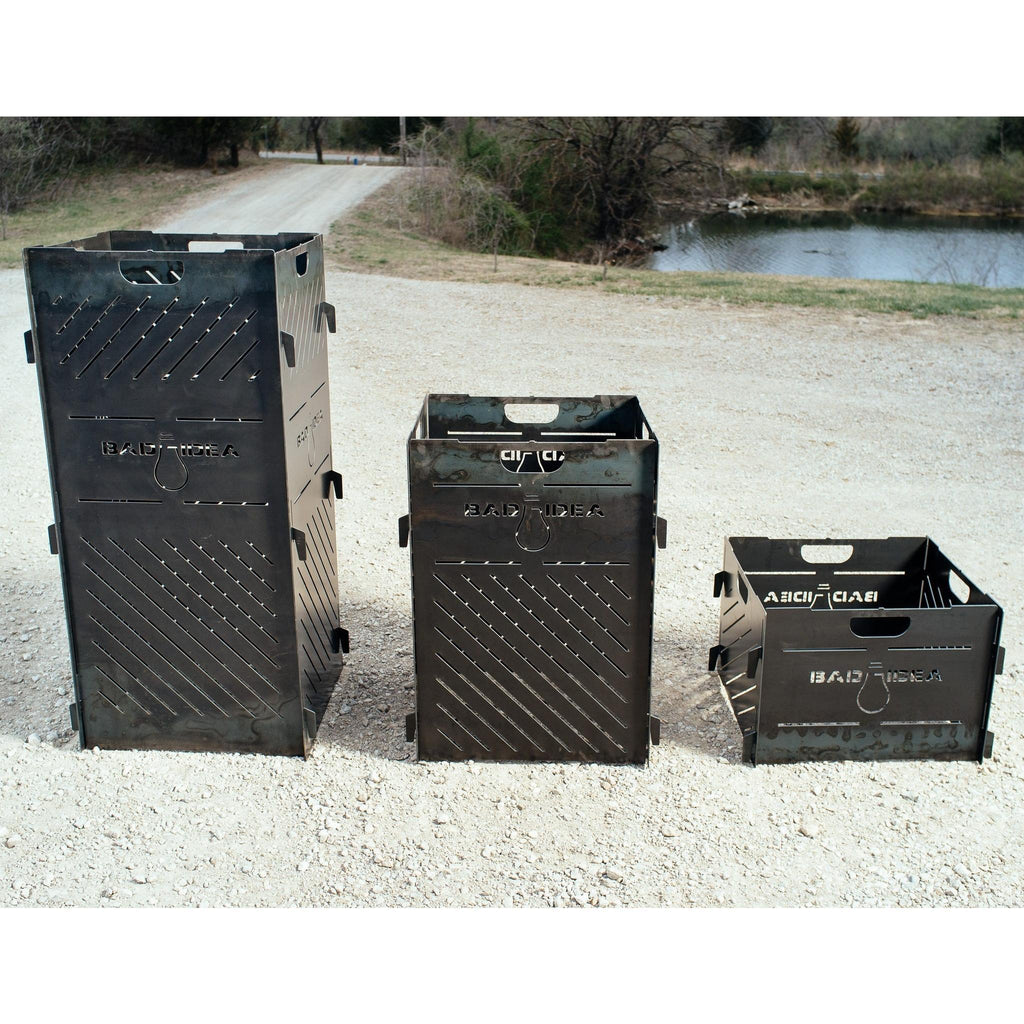 three sizes of burn cage - small, medium, and large pyro cage