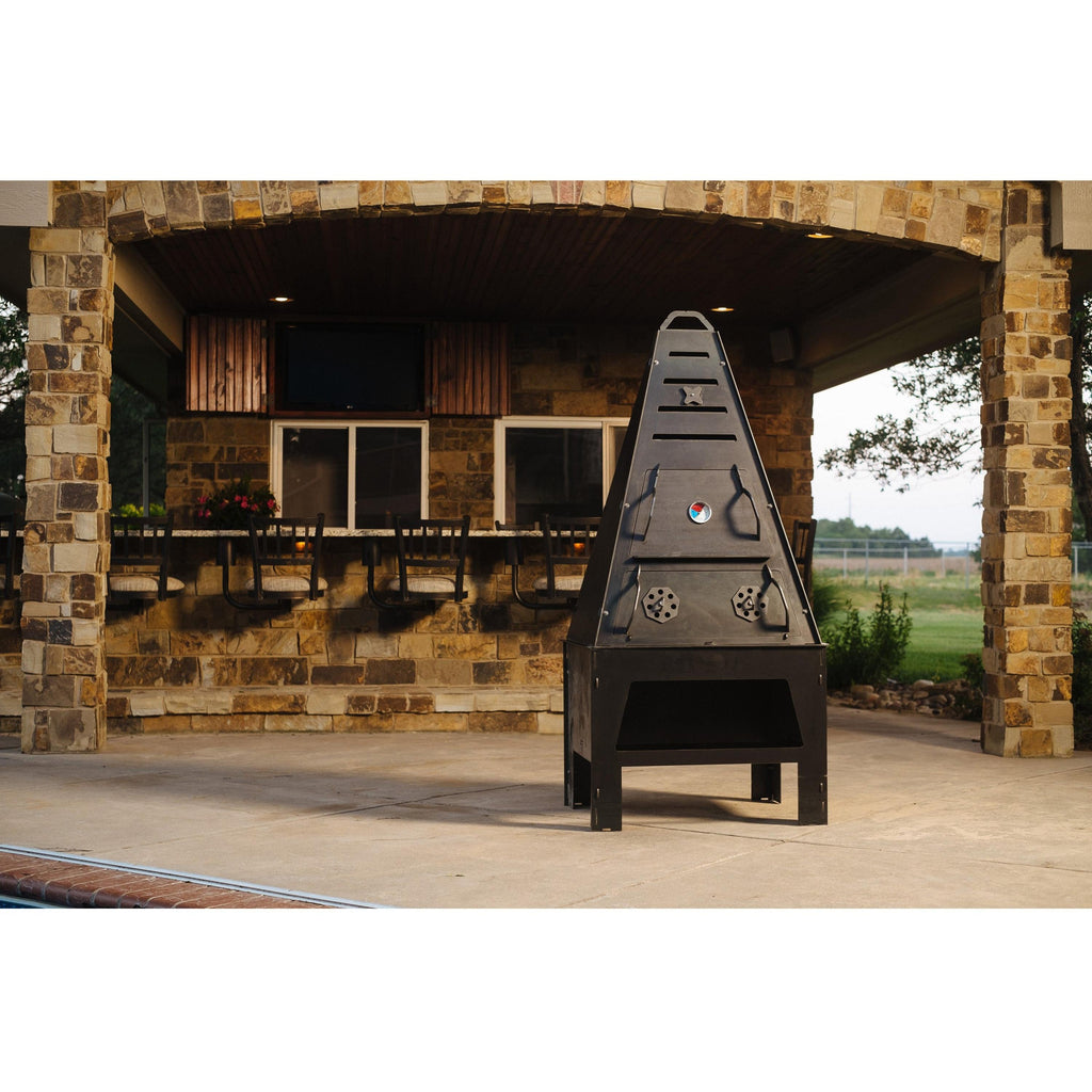 Pyro Tower Complete Kit - Blaze Tower Fire Pit and Grill