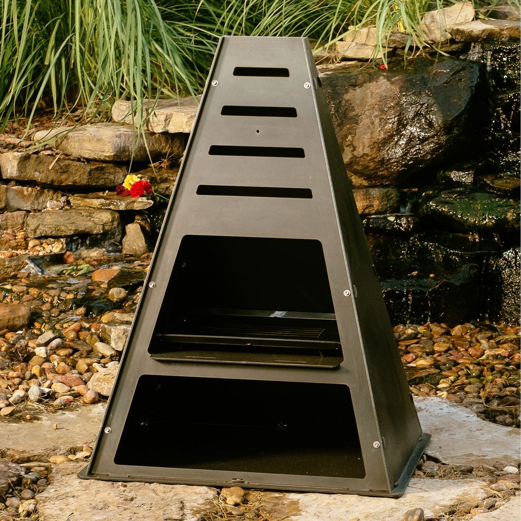 Pyro Tower Metal Chiminea Outdoor Fireplaces Made In Usa