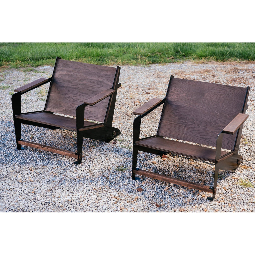 Adirondack Chair with Footrest - Blaze Tower Fire Pit and Grill
