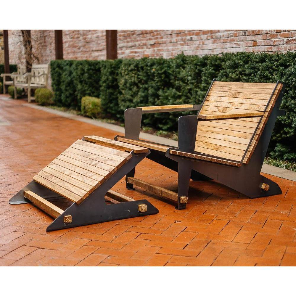 Metal Adirondack Chair With Footrest DIY Kit