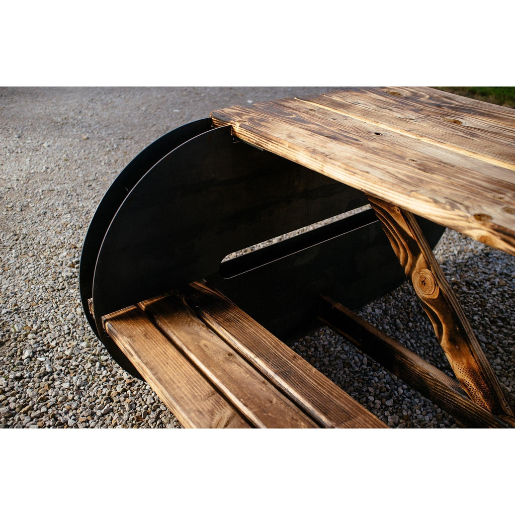 The Maria - A Modern Picnic Table DIY Kit - Blaze Tower Fire Pit and Grill