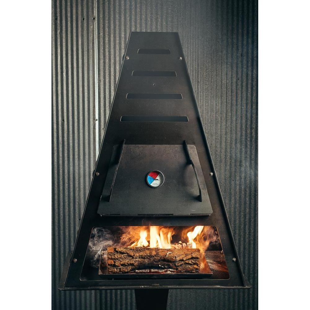 Pyro Tower Smoker Kit - Blaze Tower Fire Pit and Grill