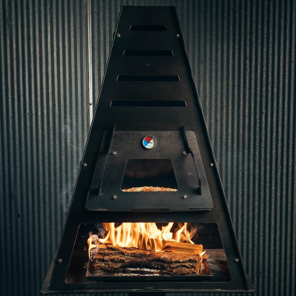 Pyro Tower Wood-Fired Oven Kit makes pizza outdoors in minutes