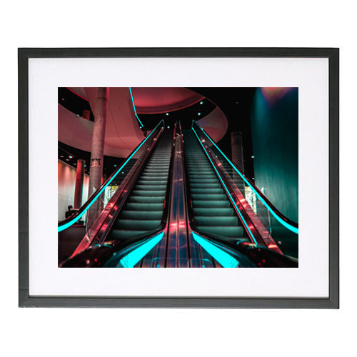 Ashley J Ireland Escalator Print