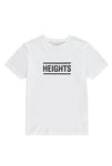 The Heights Short Logo Tee - White