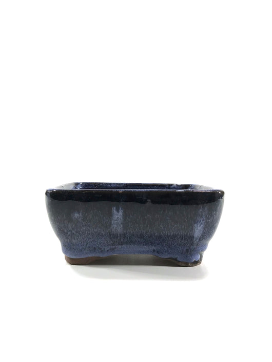 5 x 4 x 2 inch Glazed Bonsai Pot