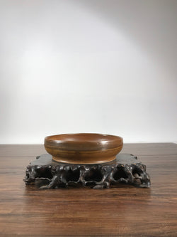 8 x 2 inch Round Glazed Bonsai Pot