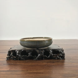 7 x 2 inch Glazed Bonsai Pot