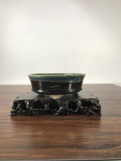 8.25 x 3.0 Inch Glazed Bonsai Pot