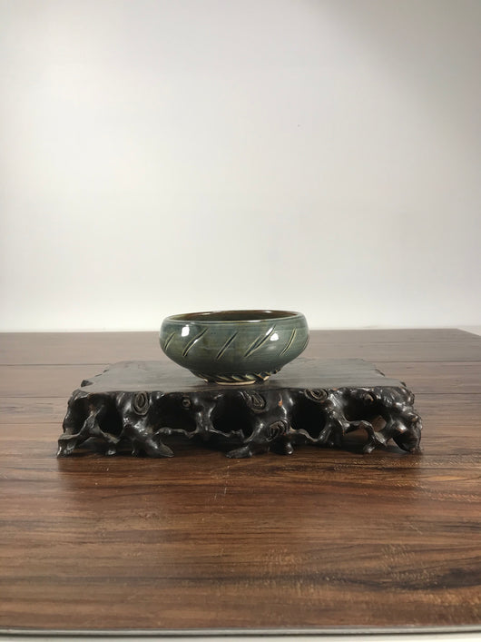 5 x 2.5 Inch Glazed Bonsai Pot