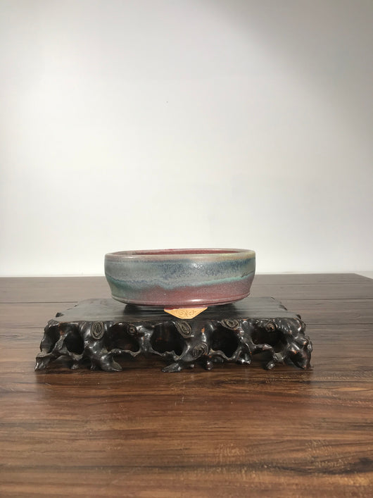 7.0 x 2.5 Glazed Bonsai Pot