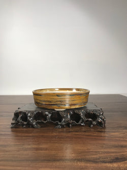8 x 2 Inch Glazed Bonsai Pot