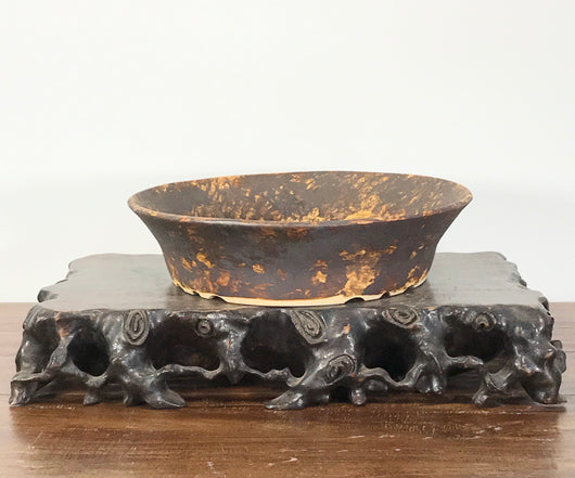 7.5 x 2.0 Inch Glazed Bonsai Pot