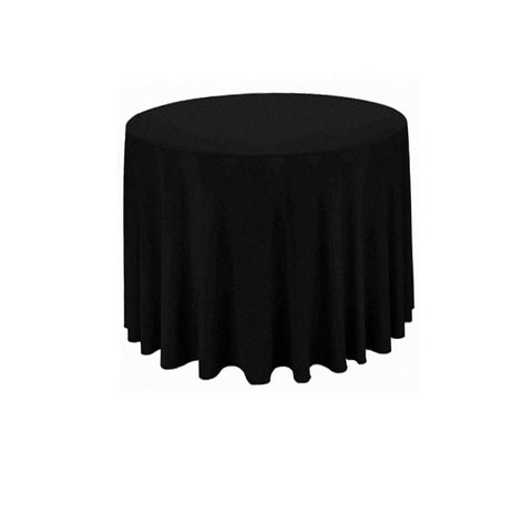 "Tablecloth hire Black 70"" Round"
