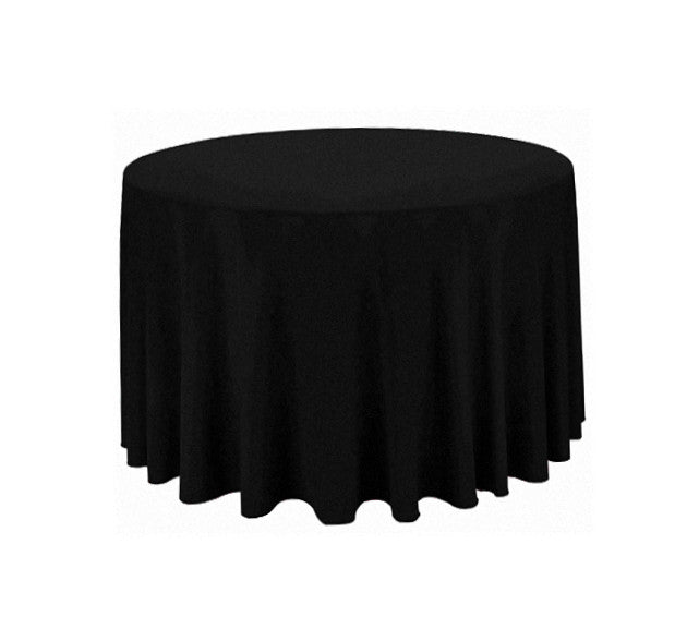 "Tablecloth hire Black 90"" Round"