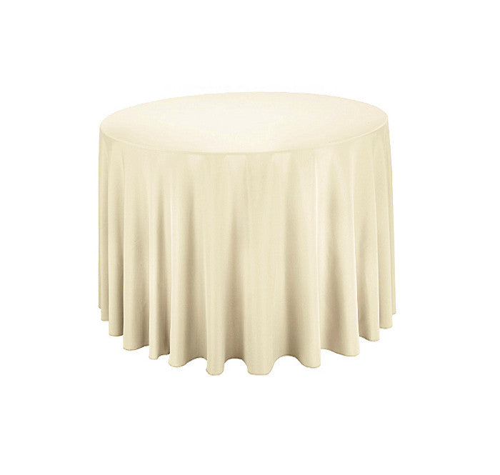 "Tablecloth hire Ivory 70"" Round"