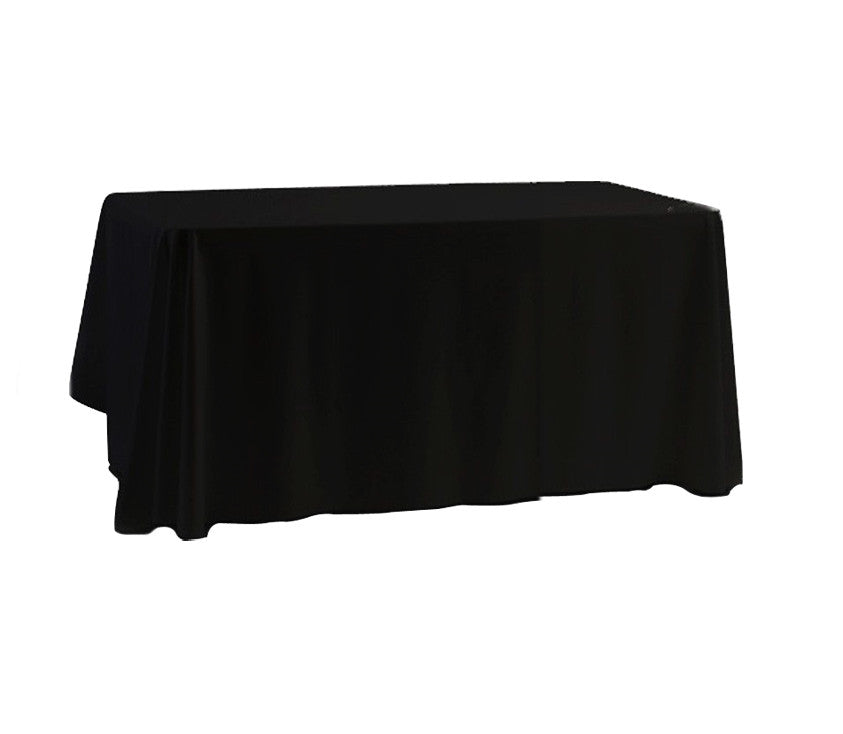 "Tablecloth hire Black 70 x 108"" Rectangular"