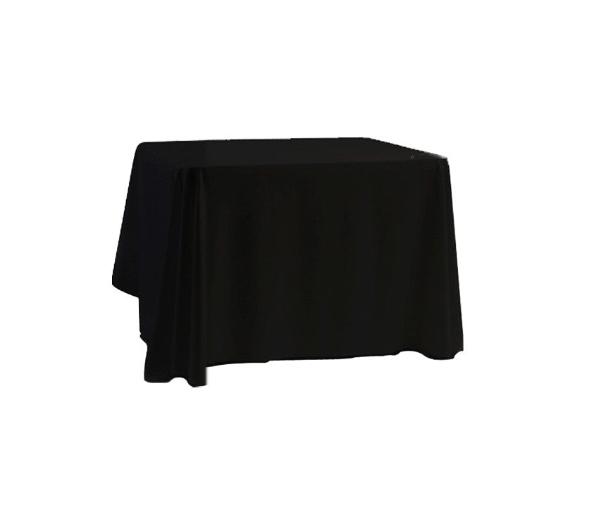 "Tablecloth hire Black 90 x 90"" Square"
