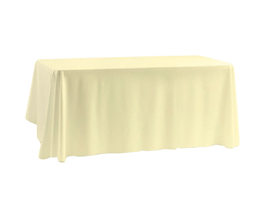 "Tablecloth hire Ivory 70 x 108"" Rectangular"
