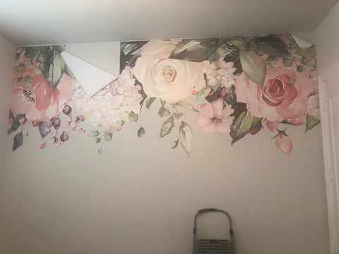 Decals fall off the wall