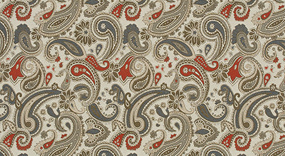 """Parker Paisley"" Upholstery Fabric"