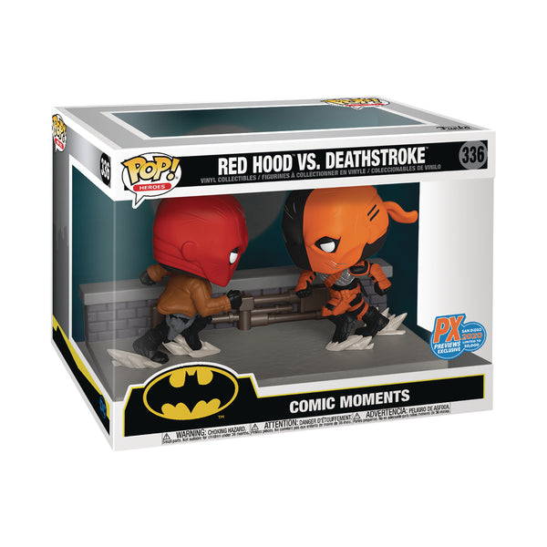 Red Hood vs Deathstroke SDCC 2 pack moment Funko Pop Vinyl Figure