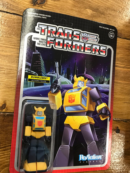 Super 7 transformers Bumblebee REACTION FIGURE  MOC new