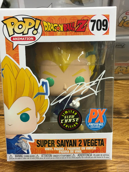 CHASE SIGNED CHRIS SABAT SS2 Vegeta PX exclusive Funko Pop! Vinyl figure CHX