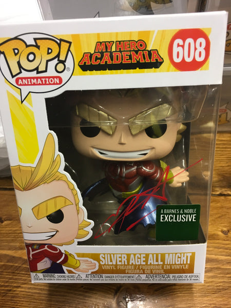 SIGNED CHRIS SABAT Silver Age All Might exclusive Funko Pop! Vinyl figure CHX