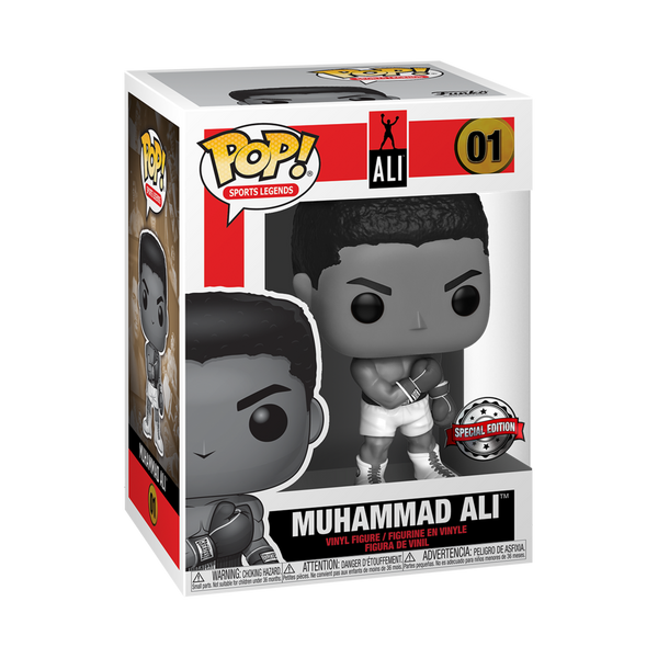 Muhammad Ali b&w exclusive Funko Pop! Vinyl figure sports