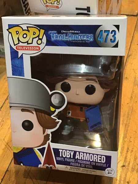 Trollhunters Toby Armored Funko Pop! Vinyl figure cartoon