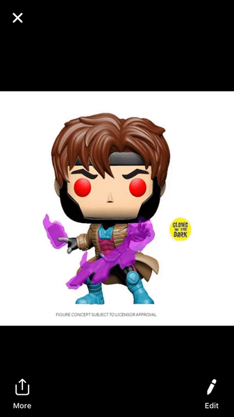 Xmen Classic Gambit GITD EXCLUSIVE Funko Pop! Vinyl figure marvel
