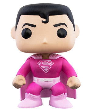Breast cancer awareness Superman dc comics Funko Pop! Vinyl figure