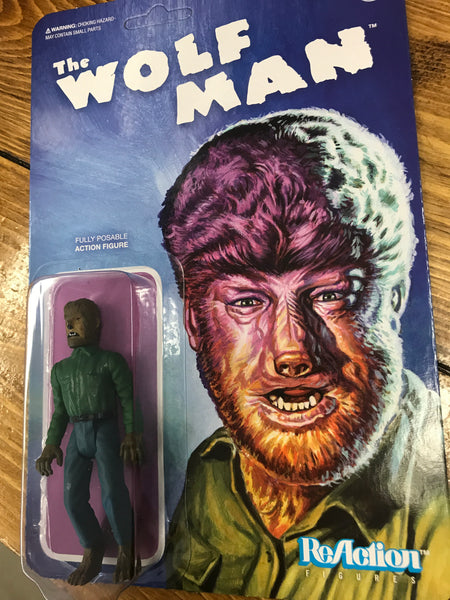 Super 7 Universal Monsters Wolfman REACTION FIGURE  MOC new
