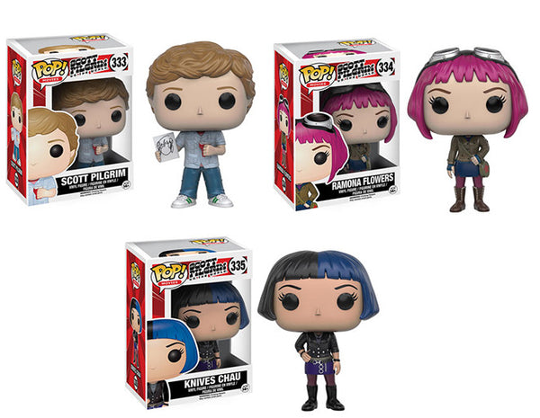 Retired Scott Pilgrim set of 3 Funko Pop! Vinyl figure